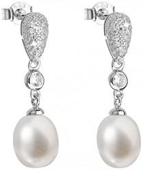 Strieborné náušnice s pravými perlami Pavona 21040.1
