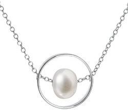 Stříbrný náhrdelník s pravou perlou Pavona 22019.1 (řetízek, přívěsek)