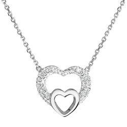 Strieborný náhrdelník srdce s kryštálmi Swarovski 32032.1