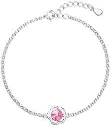 Stříbrný náramek s krystalem Swarovski 33117.3 Rose