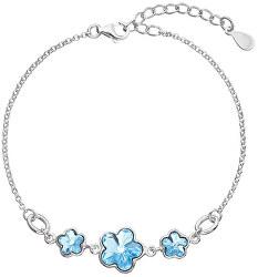 Stříbrný náramek s krystaly Swarovski Blue 33112.3