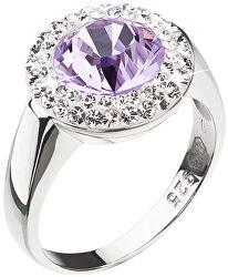 Stříbrný prsten s fialkovým krystalem Swarovski 35026.3