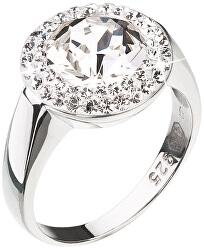 Stříbrný prsten se třpytivým krystalem Swarovski 35026.1