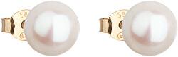 Zlaté náušnice z pravých perál Pavona 921042.1
