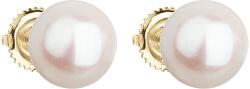 Zlaté náušnice s pravými perlami Pavona 921005.1
