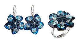 Zvýhodněná sada šperků Bermuda Blue (náušnice, prsten)