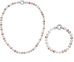 Zvýhodněná souprava šperků s barevnými perlami Pavona 22004.3 A, 23004.3 A (náhrdelník, náramek)