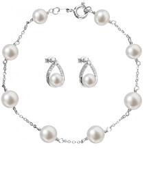 Zvýhodnená súprava strieborných šperkov Pavona 21033.1, 23008.1 (náramok, náušnice)