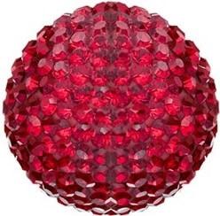 Červená rolnička do Andělského zvonku s krystaly ERS-55-ZI-S