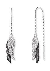 Elegantní stříbrné bicolor náušnice se zirkony Wingduo ERE-WINGDUO-ZIB