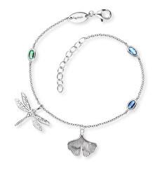 Hravý stříbrný bicolor náramek se zirkony ERB-JOY-ZIM