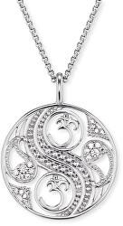 Strieborný náhrdelník Balance so zirkónmi ERN-BALANCE-ZI