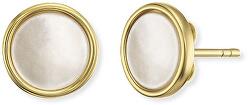 Pozlacené stříbrné náušnice s perletí ERE-PE-STG
