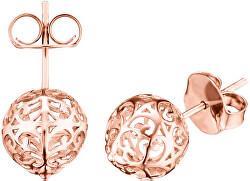 Ružovo pozlátené strieborné náušnice Anjelské zvončeky ERE-ER1-STR