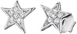 Stříbrné náušnice Hvězda se zirkony ERE-LILSTAR-ZI