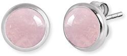 Stříbrné náušnice s růženínem ERE-RQ-ST