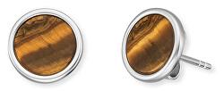 Stříbrné náušnice s tygřím okem ERE-TE-ST