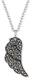 Stříbrný náhrdelník Křídlo s markazity ERN-LILWING-MA