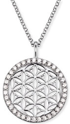 Stříbrný náhrdelník Květ života se zirkony ERN-LILLIFL-ZI