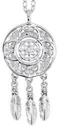 Stříbrný náhrdelník Lapač snů ERN-LILNATIVE