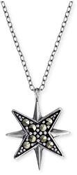 Strieborný náhrdelník s markazity ERN-LILSTAR-MA