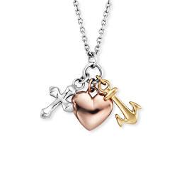 Stříbrný náhrdelník se symboly ERN-FLH-TRICO