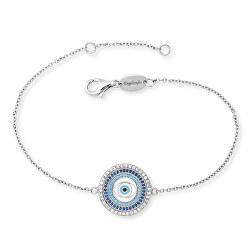 Stříbrný náramek Oko štěstí se zirkony ERB-EYE-ZIM