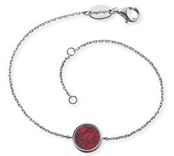 Strieborný náramok s červeným Jaspis ERB-Lilge-RJ