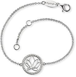 Strieborný náramok s lotosovým kvetom ERB-LOTUS-ZI
