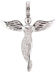 Stříbrný přívěsek Anděl se zirkony ERP-ANGEL