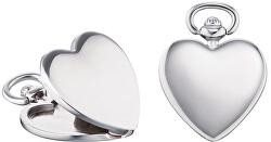Stříbrný přívěsek Medailonek srdce ERP-HEARTTIMELE