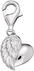 Strieborný prívesok na náramok Srdce s krídlom ERC-HEARTWING