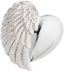 Stříbrný přívěsek Srdce s andělským křídlem ERP-HEARTWING