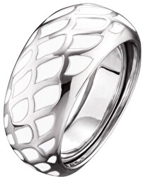 Stříbrný prsten s bílým smaltem ERR-ENW