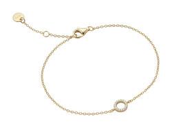 Elegantní pozlacený náramek s kroužkem Naomi ESBR01661217