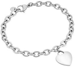 Elegantní stříbrný náramek se srdíčkem ESBR01512120