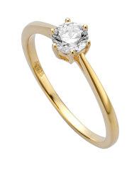 Aranyozott gyűrű cirkónium kövekkel Talp ESRG013912