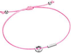 Růžový šňůrkový náramek Mini ESBR00741A21