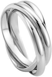 Trojitý stříbrný prsten Curl ESRG007811