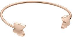 Pevný bronzový náramek s motýlky WB1043R
