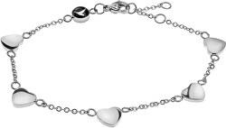 Romantický ocelový náramek se srdíčky WB1020S
