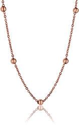 Růžově pozlacený náhrdelník WN1017R