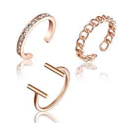 Sada jemných bronzových prstenů WS044R