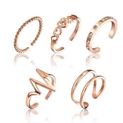 Sada jemných bronzových prstenů WS045R