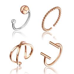 Sada jemných bronzových prstenů WS046R