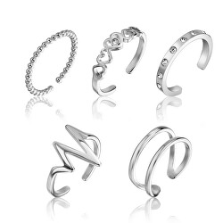 Sada jemných ocelových prstenů WS045S