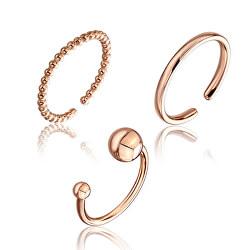 Sada minimalistických bronzových prstenů WS043R