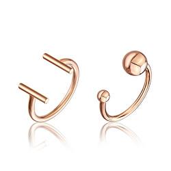 Sada minimalistických bronzových prstenů WS048R