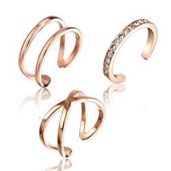 Sada minimalistických bronzových prstenu WS054R