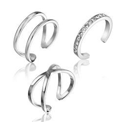Sada minimalistických ocelových prstenu WS054S